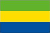 Gabun Flaggen