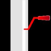 innenliegende Seilführung mit Kurbelhissvorrichtung
