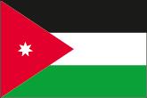 Jordanien Flaggen