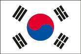 Südkorea Flaggen