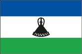 Lesotho Flaggen