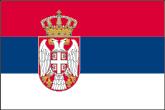 Serbien Flaggen