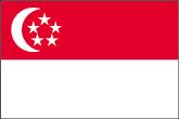 Singapur Flaggen