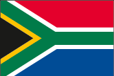 Südafrika Flaggen