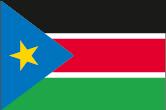 Südsudan Flaggen