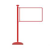 Tischflaggenständer
