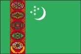 Turkmenistan Flaggen