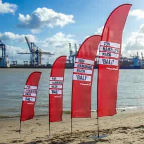 Beachflag 'Bali' Druck(frisch)