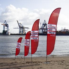 Beachflag konvexe Unterkante XL