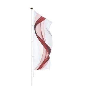 PEGASUS WHITE: Alu-Fahnenmast mit weißer Sonderlakierung ohne Ausleger