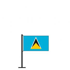 Tischflagge St. Lucia