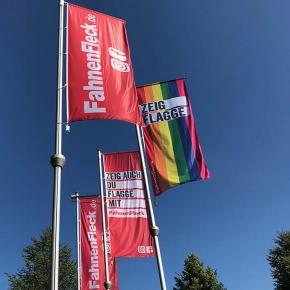 Hisshochflaggen für Ausleger Werbeflaggen