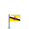 Tischflagge Brunei