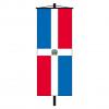 Banner-Fahne Dominikanische Republik mit Wappen