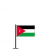 Tischflagge Jordanien