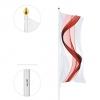 LUPUS: GFK-Fahnenmast mit außenliegender Hissvorrichtung ohne Ausleger