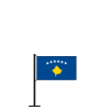 Tischflagge Kosovo