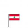 Tischflagge Libanon