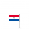 Tischflagge Paraguay Rückseite