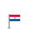 Tischflagge Paraguay Vordeseite