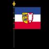 ZimmerfahneSchleswig-Holstein mit Bürgerwappen