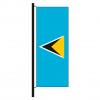 Hisshochflagge St. Lucia