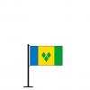 Tischflagge St. Vincent und die Grenadinen